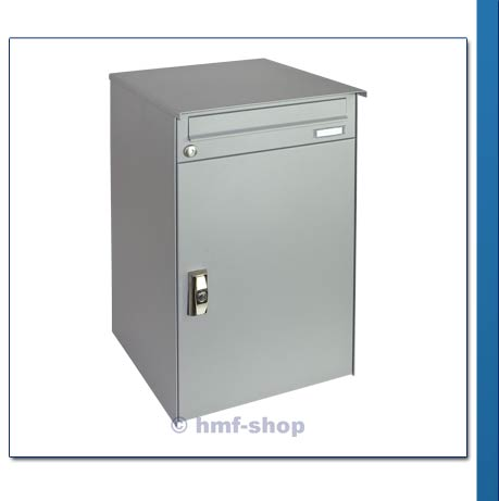 hmf briefkasten paketbriefkasten paketbox mit einrastverschluss aufputzmontage ebay. Black Bedroom Furniture Sets. Home Design Ideas