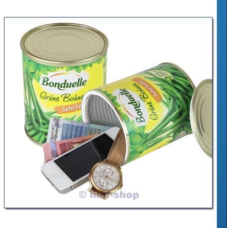 hmf cachette aspect boite de haricots verts bonduelle compartiment secret ebay. Black Bedroom Furniture Sets. Home Design Ideas