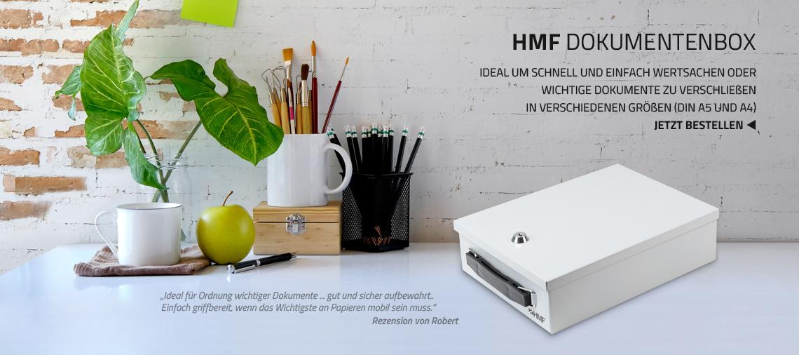 HMF Dokumentenkassetten in verschiedenen Formaten