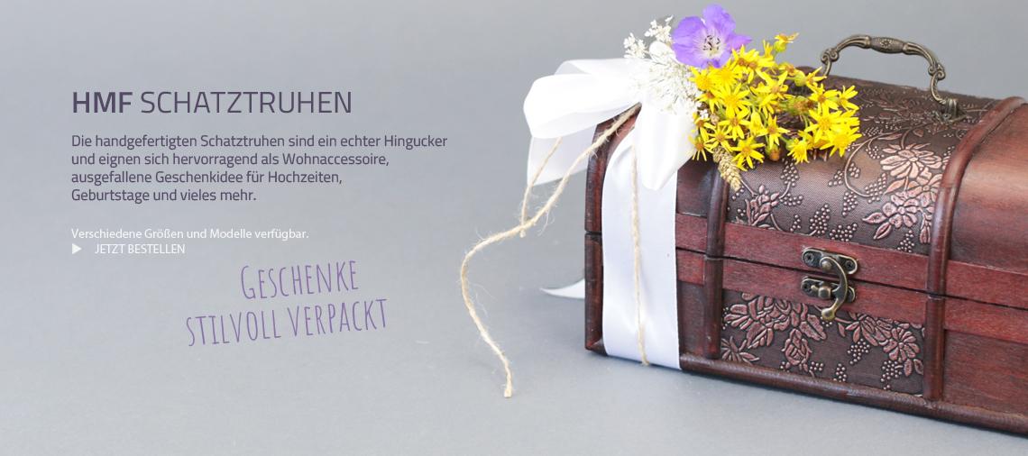 Die handgefertigten Schatztruhen sind ein echter Hingucker und eignen sich hervorragend als Wohnaccessoire, ausgefallene Geschenkidee für Hochzeiten,  Geburtstage und vieles mehr.