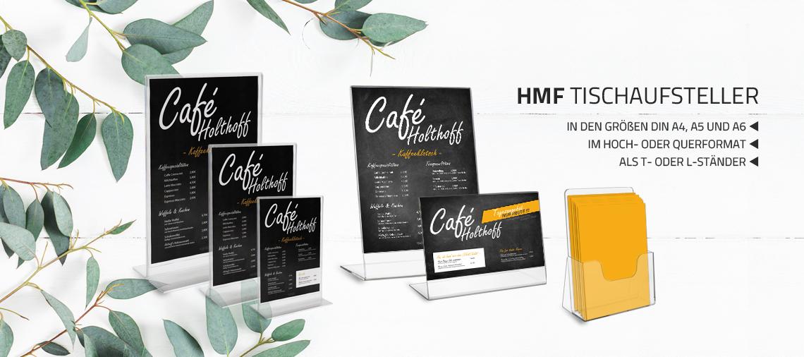 HMF Tischaufsteller, Menükartenhalter, Prospekthalter aus Acrylkunststoff