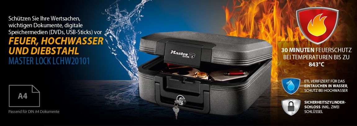 Feuerfeste Dokumentenbox Master Lock DIN A4