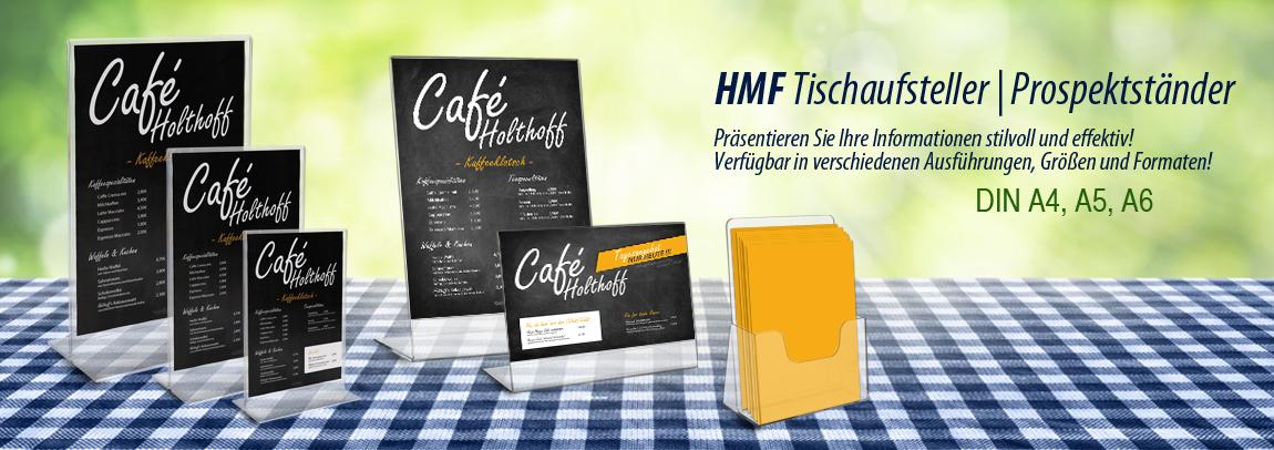 HMF Acryl Tischaufsteller Prospektständer