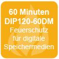 60 Minuten Feuerschutz für DVDs / USBs gemäß DIP120-60DM