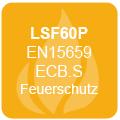 60 Minuten Feuerschutz für Papier gemäß LFS60P (EN15659 ECB.S)