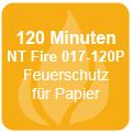 120 Minuten Feuerschutz für Papier gemäß NT Fire 017-120P