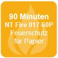 90 Minuten Feuerschutz für Papier gemäß NT Fire 017-60P und NT Fire 017-90P