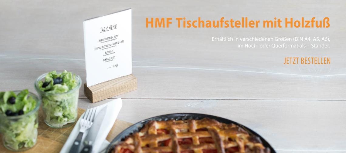 HMF Tischaufsteller mit Holzfuß