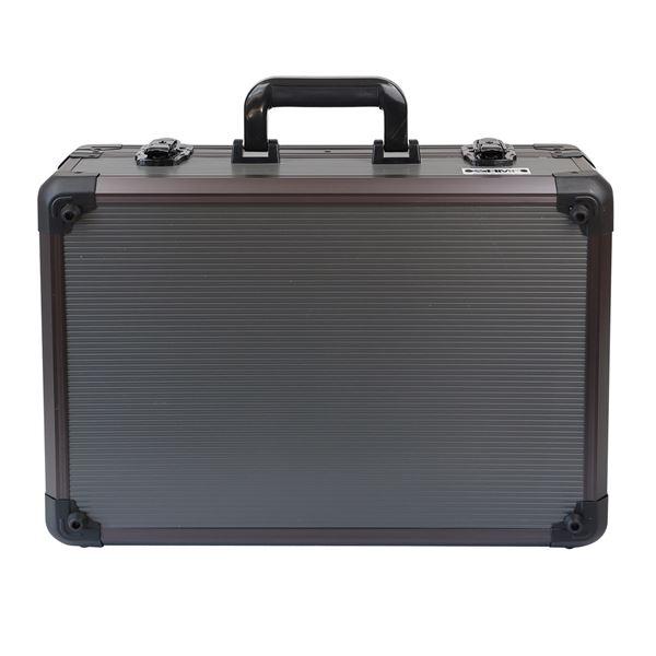 Alu Aufbewahrungskoffer, Universalkoffer, verstellbare Facheinteilung, HMF 14502-02, 46 x 15 x 33 cm