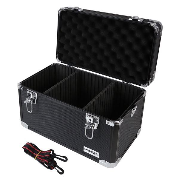 Alu Aufbewahrungsbox, Transportkoffer, verstellbare Facheinteilung, HMF 14801-02, 40 x 27,5 x 23,5 c