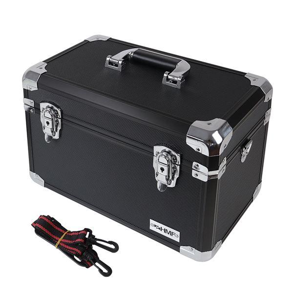 Alu Aufbewahrungsbox Transportkoffer, verstellbare Facheinteilung, HMF 14801-02, 40 x 27,5 x 23,5 cm