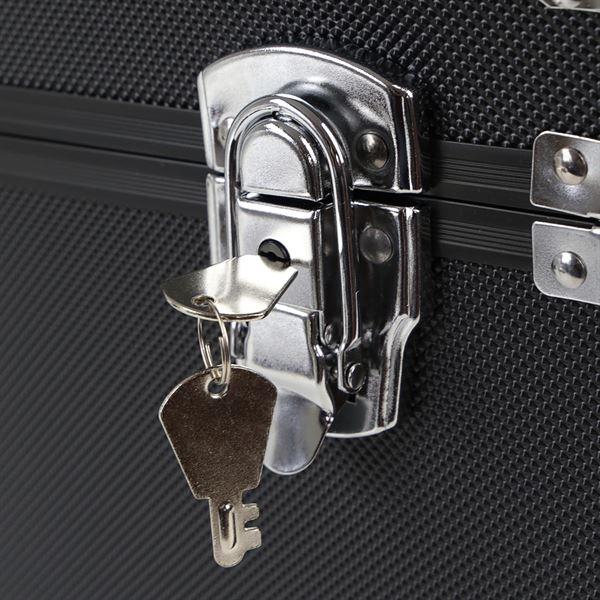 Alu Aufbewahrungsbox, Transportkoffer, verstellbare Facheinteilung, HMF 14801-02, 40 x 27,5 x 23,5 cm