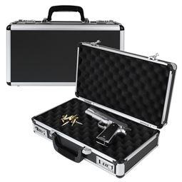 Alu Pistolenkoffer, Kurzwaffenkoffer, Zahlenschloss, Universalkoffer, HMF 14403-02, 42 x 12 x 26 cm
