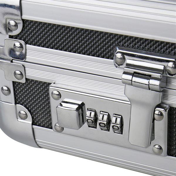 Alu Pistolenkoffer, Kurzwaffenkoffer, Zahlenschloss, Universalkoffer, HMF 14403-02, 42 x 12 x 25 cm