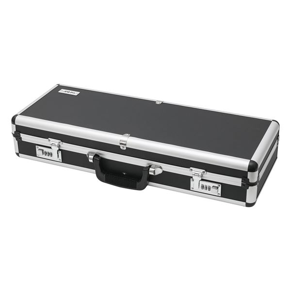 Alu Pistolenkoffer, Kurzwaffenkoffer, Zahlenschloss, Universalkoffer, HMF 14433-02, 62 x 26 x 12 cm