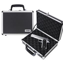 Alu Pistolenkoffer, Kurzwaffenkoffer, Zahlenschloss, Universalkoffer, HMF 14401-02, 31 x 26 x 11 cm