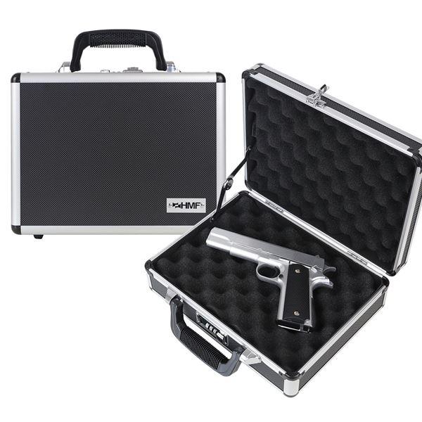 Alu Pistolenkoffer, Kurzwaffenkoffer, Zahlenschloss, Universalkoffer, HMF 14401-02, 31 x 11 x 26 cm