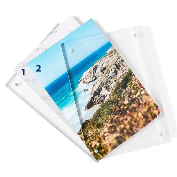 Magnetischer Bilderrahmen, HMF 4697, Transparent oder Holz-Hintergrund