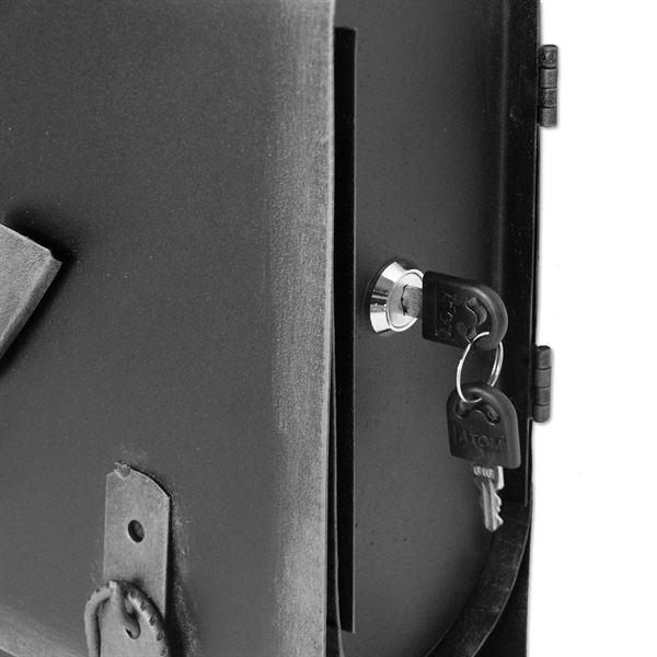 Briefkasten Alter Schulranzen mit Posthorn PH3, 40 x 40 x 9 cm