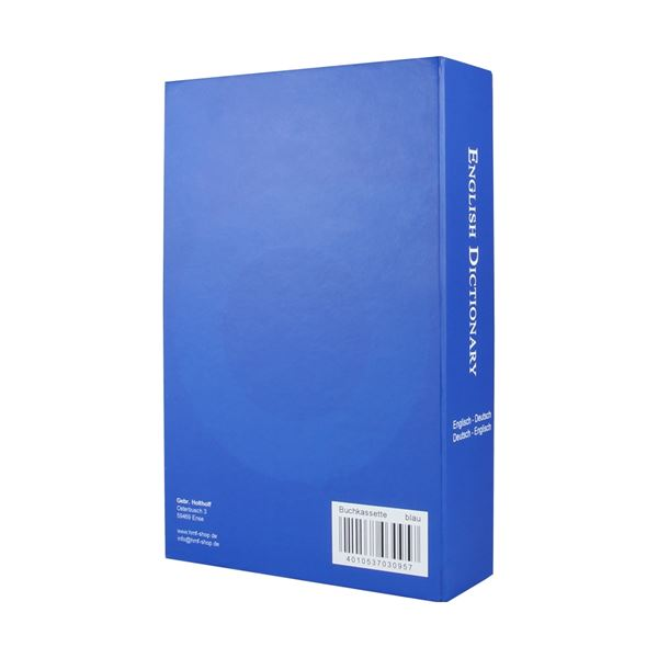 Buchtresor English Dictionary, HMF 309, 23,5 x 15,5 x 5,5 cm #VarInfo