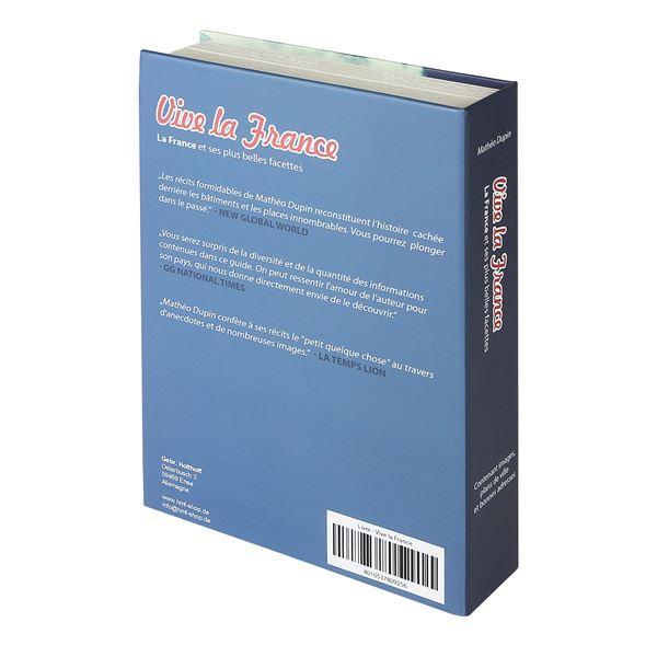 Buchtresor Papierseiten Frankreich, HMF 80925, 23 x 15 x 4 cm
