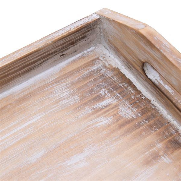 Deko Tablett aus Holz im Vintage-Design, HMF VTA101, verschiedene Größen