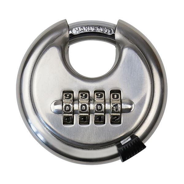 Vorhängeschloss, Rundschloss, 4er Zahlenkombination, HMF 3502-09, 7 x 7 x 2,4 cm