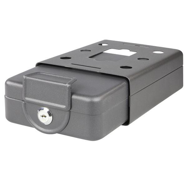 Anschraubbare Box, HMF 307-02, 20 x 15,5 x 7 cm, schwarz