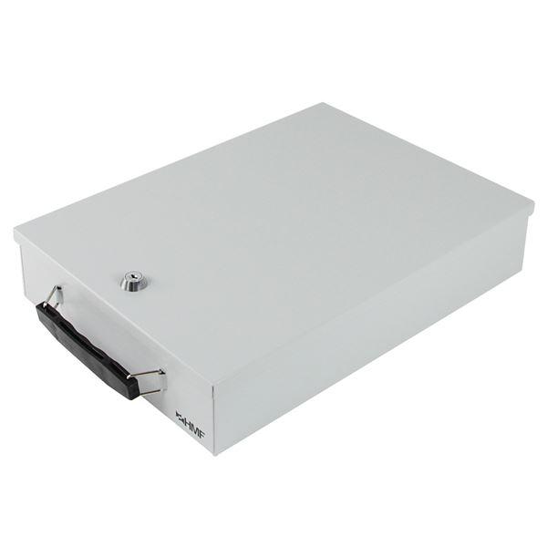 Dokumentenkassette Din A4, HMF 141-07, 37,5 x 26,5 x 8 cm, lichtgrau