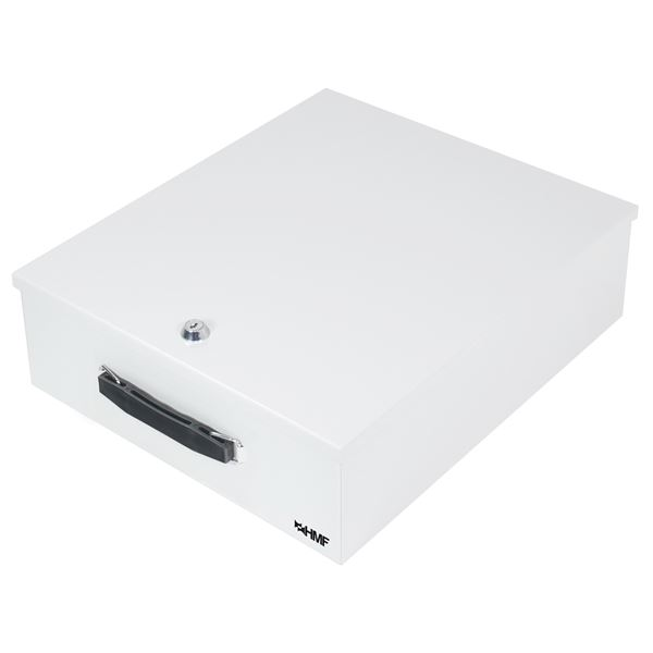 Dokumentenkassette XL Din A4, Ordner B4 Format, HMF 142-07, 39,5 x 32,5 x 12 cm, lichtgrau