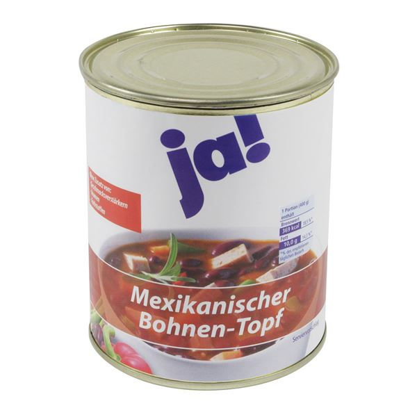 Dosentresor Dosensafe Ja! Mexikanischer Bohnen-Topf, 1724003, 12 x 10 cm
