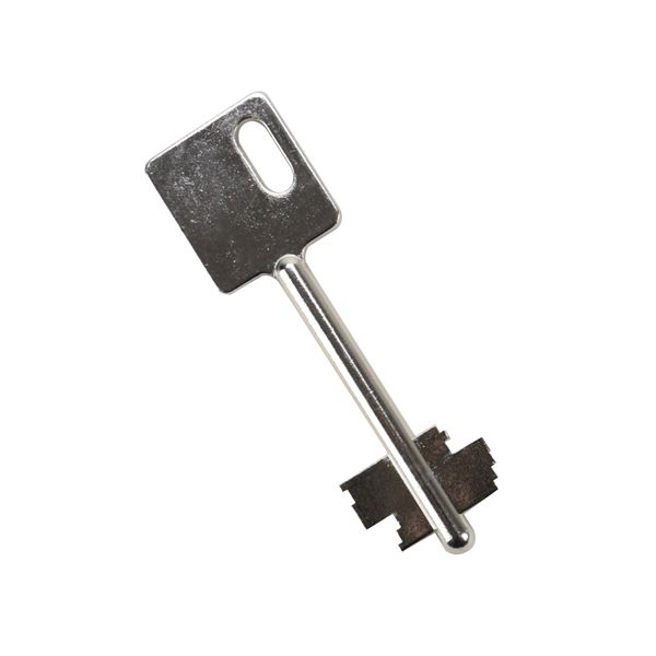 HMF Ersatzschlüssel 58118 für Doppelbartschloss, eckiger Kopf