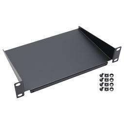 Fachboden für Serverschrank, 10 Zoll, 1 HE, HMF 63399, 254 x 150 x 45 mm,