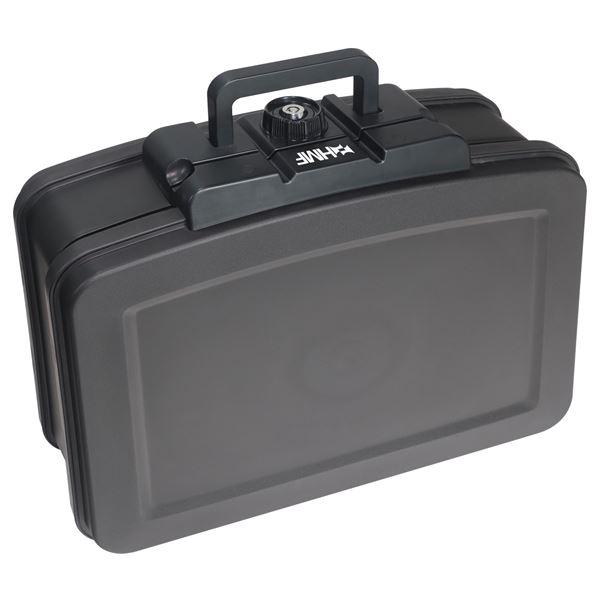 Feuerfeste Wasserdichte Dokumentenbox, HMF 250452, DIN A4, Schwarz