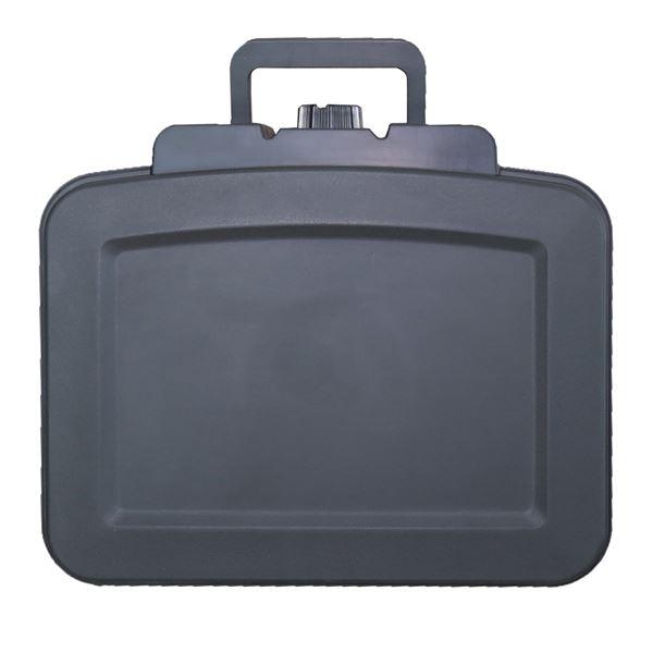 Feuerfeste Wasserdichte Dokumentenbox, HMF 250451, DIN A5, Schwarz