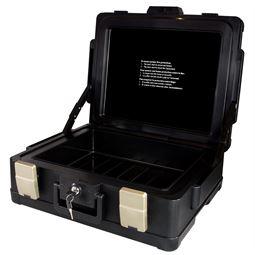 Feuerfeste Dokumentenkassette XL Honeywell 2511302, 50,7 x 43,6 x 18,7 cm, schwarz