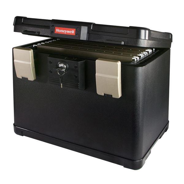 Feuerfeste Dokumentenkassette Register Honeywell 2511402, 40,7 x 32 x 32,9 cm, schwarz