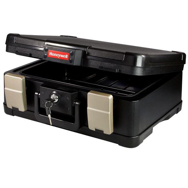 Feuerfeste Geldkassette DIN A4 Honeywell 25041890, 40,7 x 32,0 x 16,6 cm, schwarz