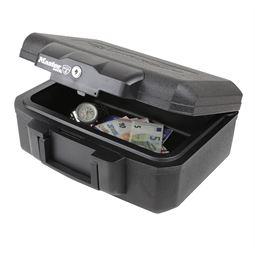 Feuerfeste Geldkassette Master Lock L1200, 36,2 x 28,4 x 15,5 cm, schwarz