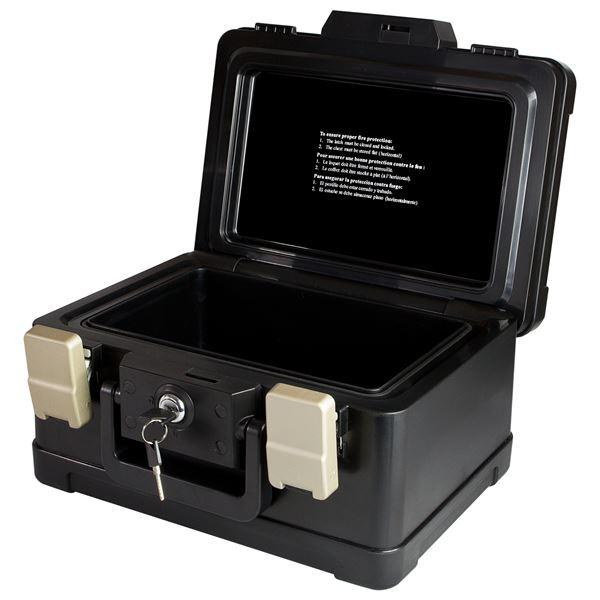 Feuerfeste Geldkassette DIN A5 Honeywell 251110220, 30,9 x 24,9 x 17,8 cm, schwarz