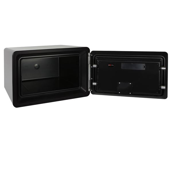 Feuerfester Tresor Elektronikschloss, HMF 4615001, 45 x 30,5 x 38 cm, schwarz