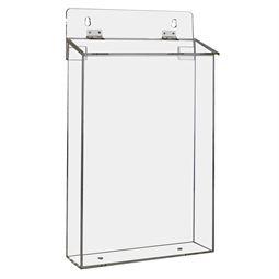 Flyerbox, Prospekthalter für Außen DIN A4 Acryl, HMF 46972-02, 22 x 38 x 9 cm