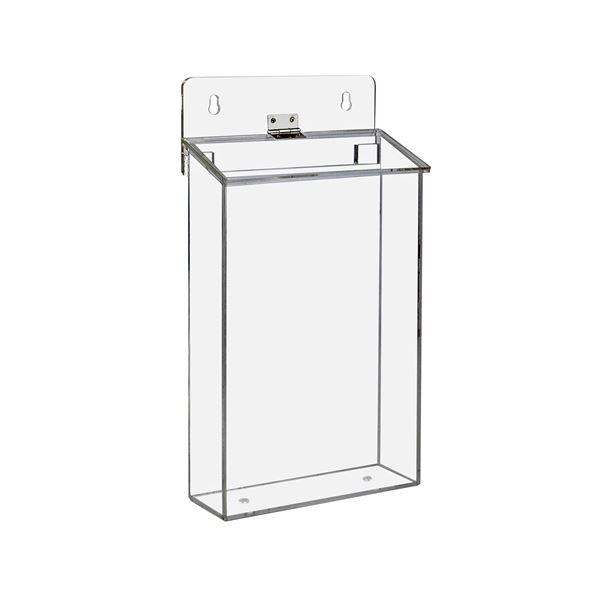 Flyerbox, Prospekthalter für Außen DIN A5 Acryl, HMF 46971-02, 16,8 x 30,5 x 7,3 cm