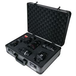 Alu Fotokoffer, Waffenkoffer mit Rasterschaumstoff, HMF 14402-02, 46 x 15 x 33 cm