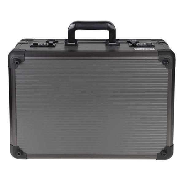 Alu Fotokoffer, Waffenkoffer mit Rasterschaumstoff, HMF 14402-02, 46 x 16,5 x 36,5 cm