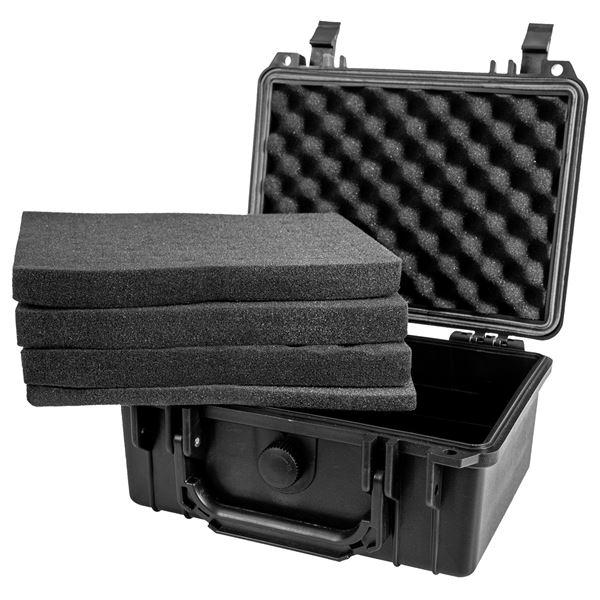 Outdoor-Fotokoffer, Waffenkoffer mit Rasterschaumstoff, HMF ODK100