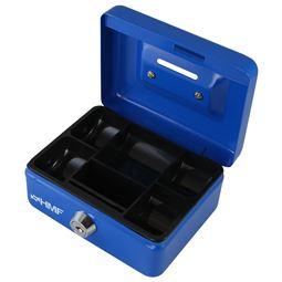Kindergeldkassette, HMF 102122, 12,5 x 9,5 x 6 cm blau