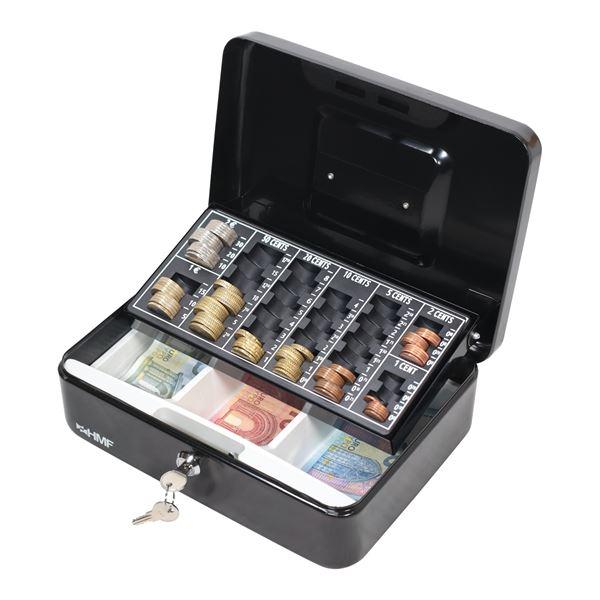 Geldkassette Euro-Münzzählbrett, HMF 10022, 25 x 18 x 9 cm