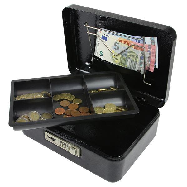 Geldkassette Zahlenkombinationsschloss, HMF 525, 25 x 18 x 9 cm #VarInfo