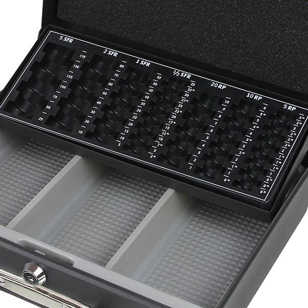 Geldkassette Tragegriff, Schweizer Franken, HMF 10016, 30 x 24 x 9 cm